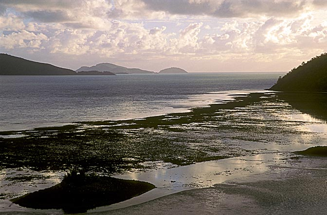 Hamilton Island at sunset, the Great Barrier Reef 1998