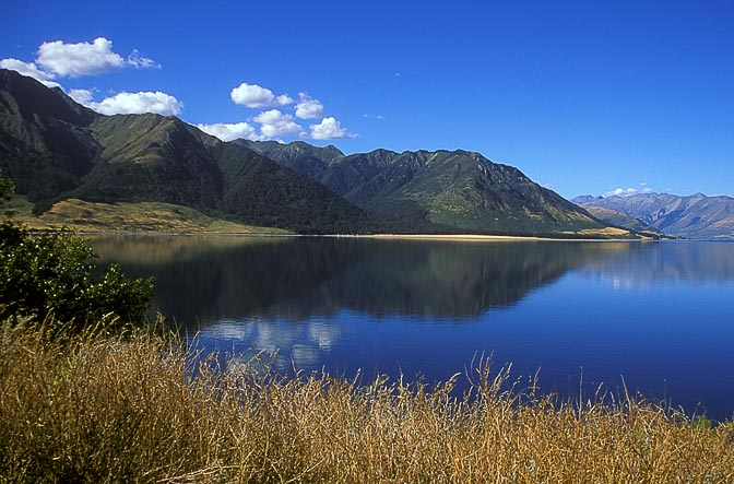 Lake Hawea landscape, the South Island 1999