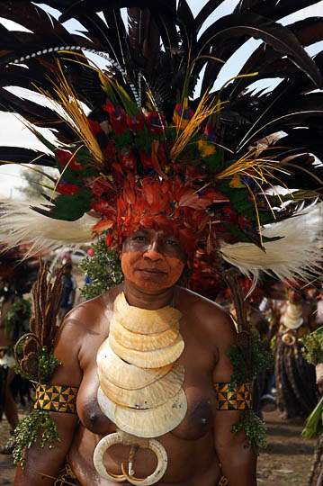 A woman from Chimbu Province, at The Goroka Show 2009
