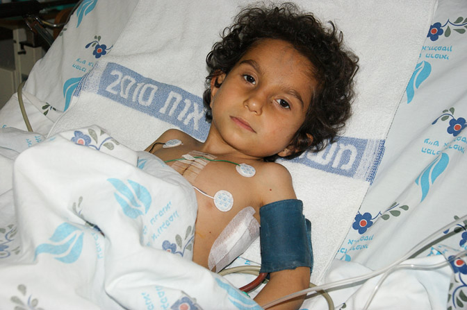 Fatima after her surgery, The Wolfson Hospital 2011